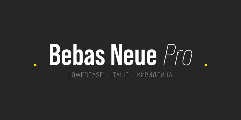 Fonte Bebas Neue Pro Designe Download Grátis