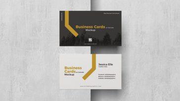 Mockup Gratis Cartao de Visita Empresarial no Concreto Designe 1