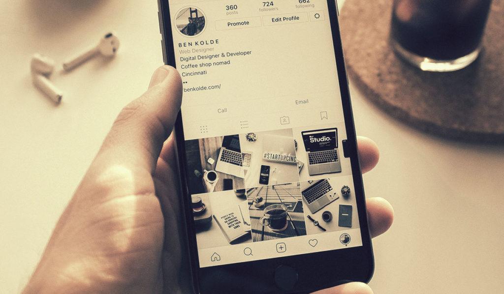 link da bio do Instagram designe