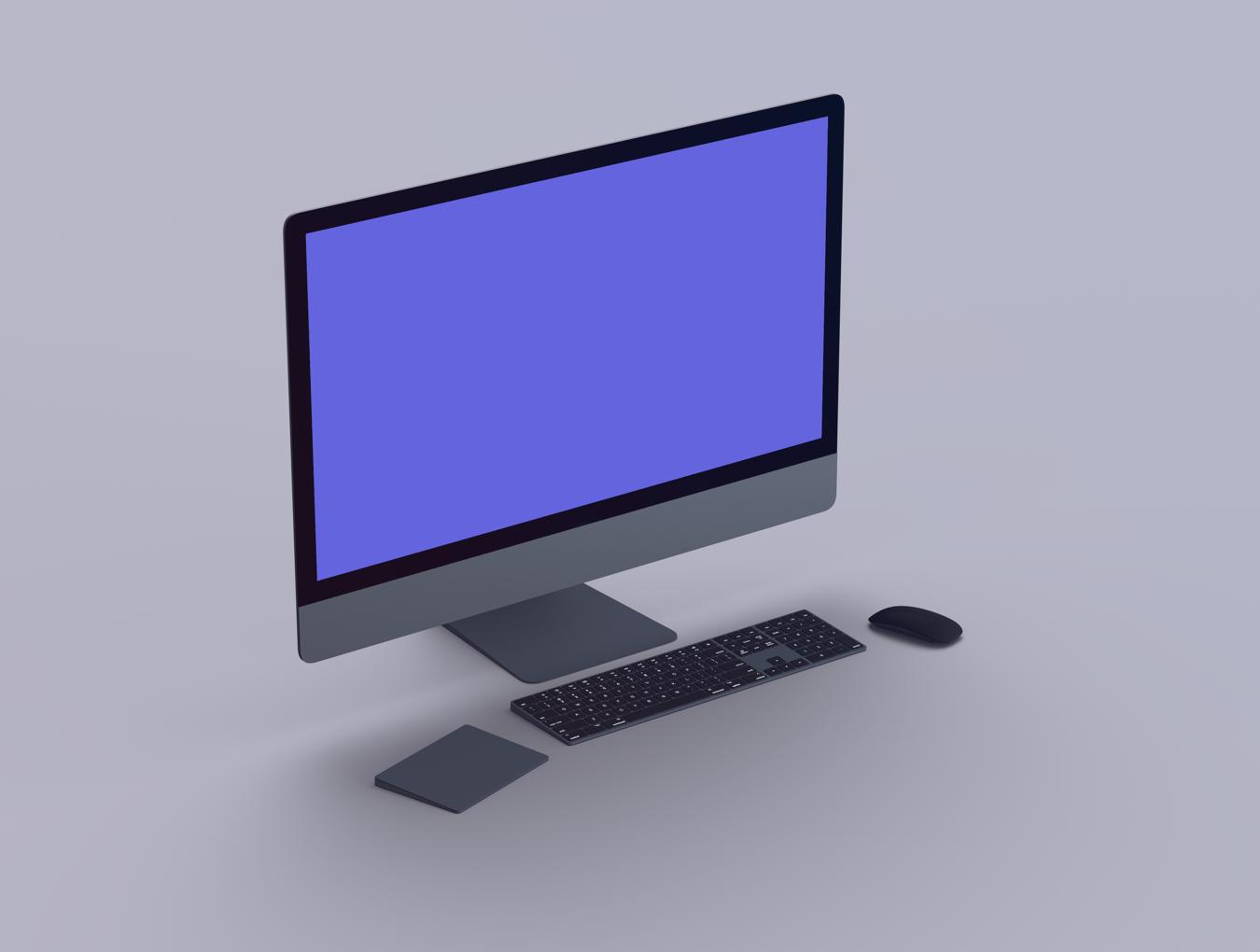 mockup monitor mac thumb download designe 1