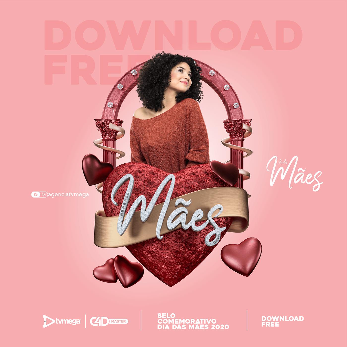 freebie selo dia das maes para download 2 designe