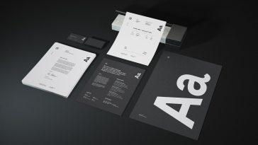 6 mockups gratis para apresentacoes de marca e identidade visual designe