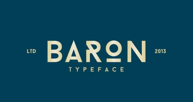 baron fontes futuristas e modernas gratis designe