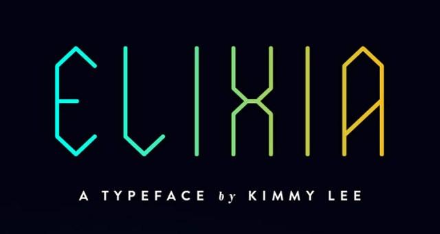 elixia fontes futuristas e modernas gratis designe