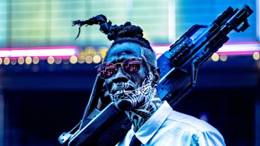 exemplos de design cyberpunk designe