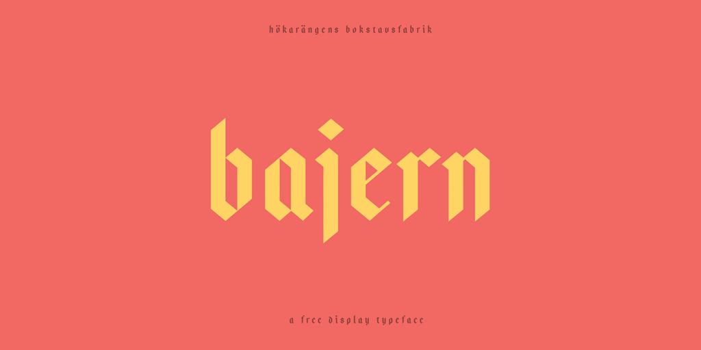 Bajern fonts aesthetic designe