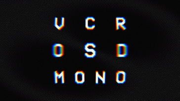 VCR OSD Mono fontes aesthetic designe