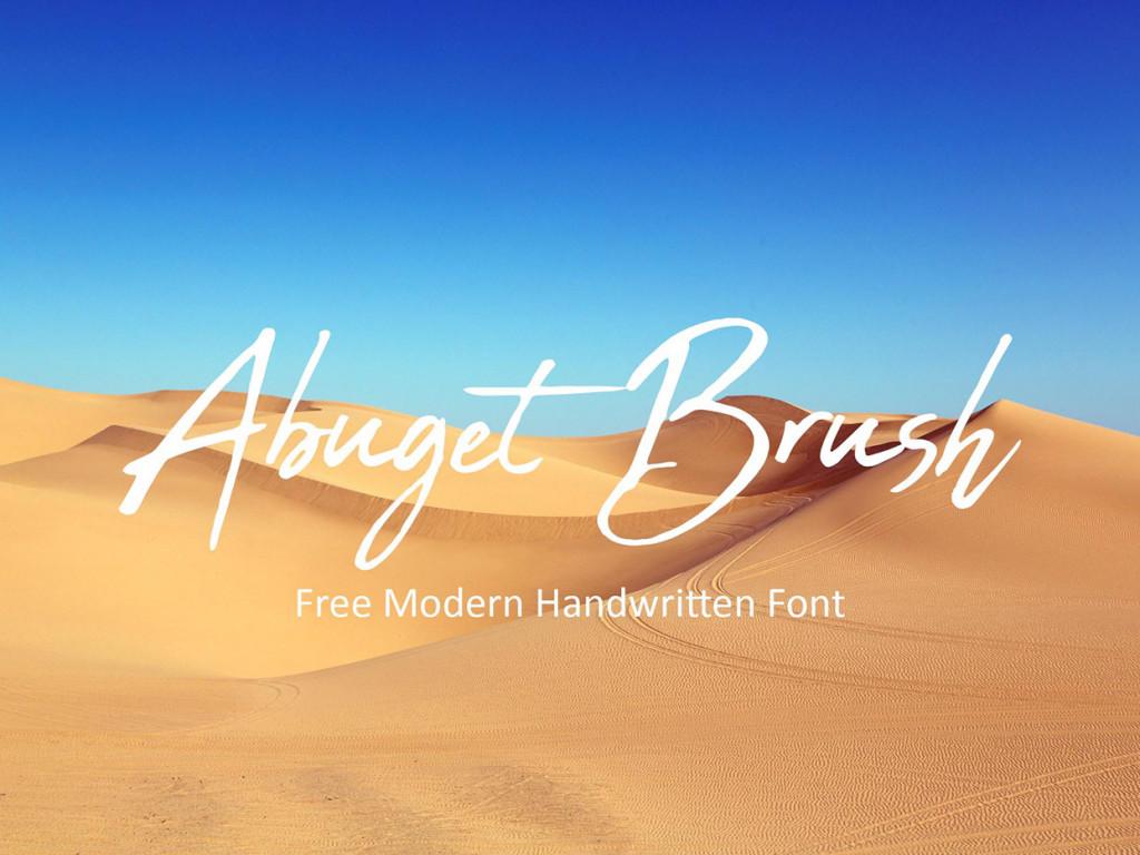 abuget brush aesthetic fontes designe