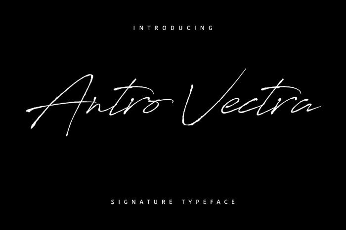 antro vectra fontes aesthetic designe