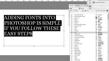 como adicionar fontes no photoshop designe