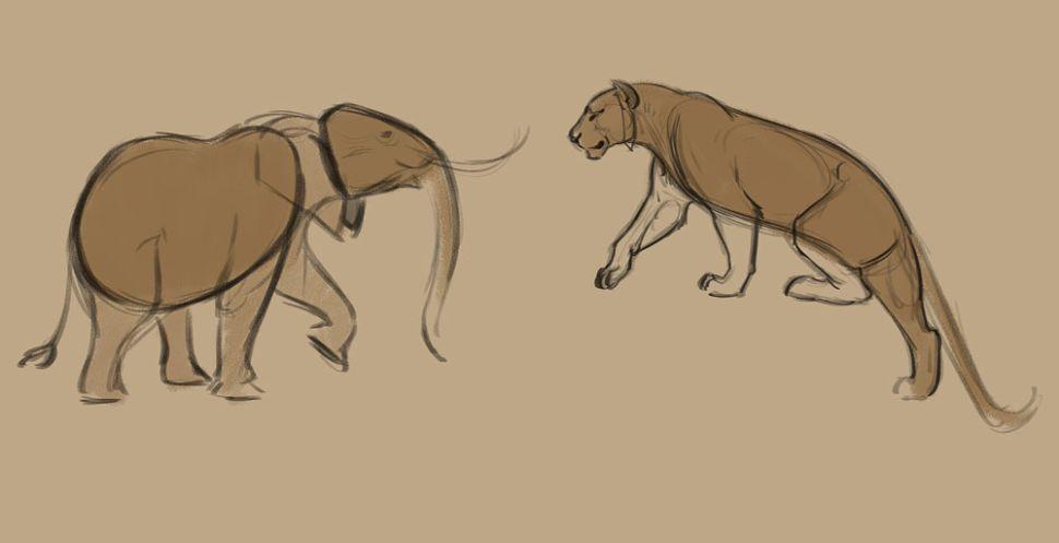 como desenhar animais grandes formas designe