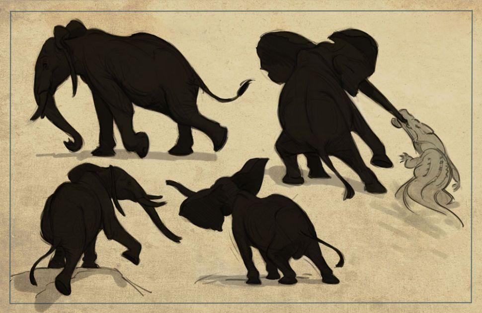 como desenhar animais tenha uma boa silhueta designe