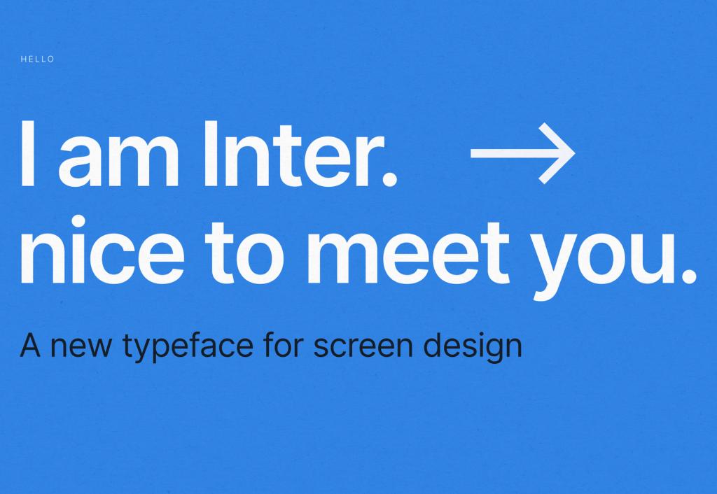 fonte codigo aberto inter designe