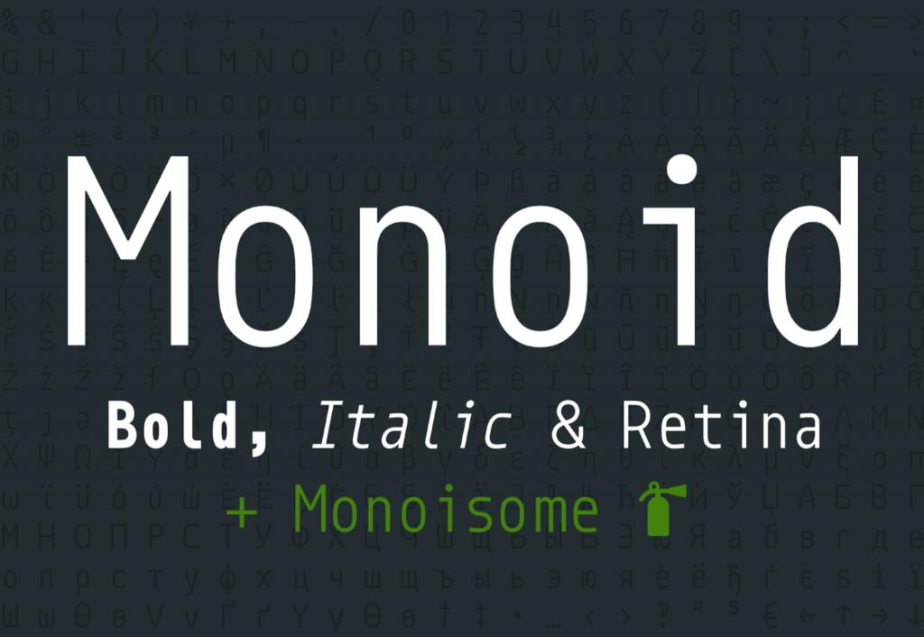 fonte codigo aberto monoid designe
