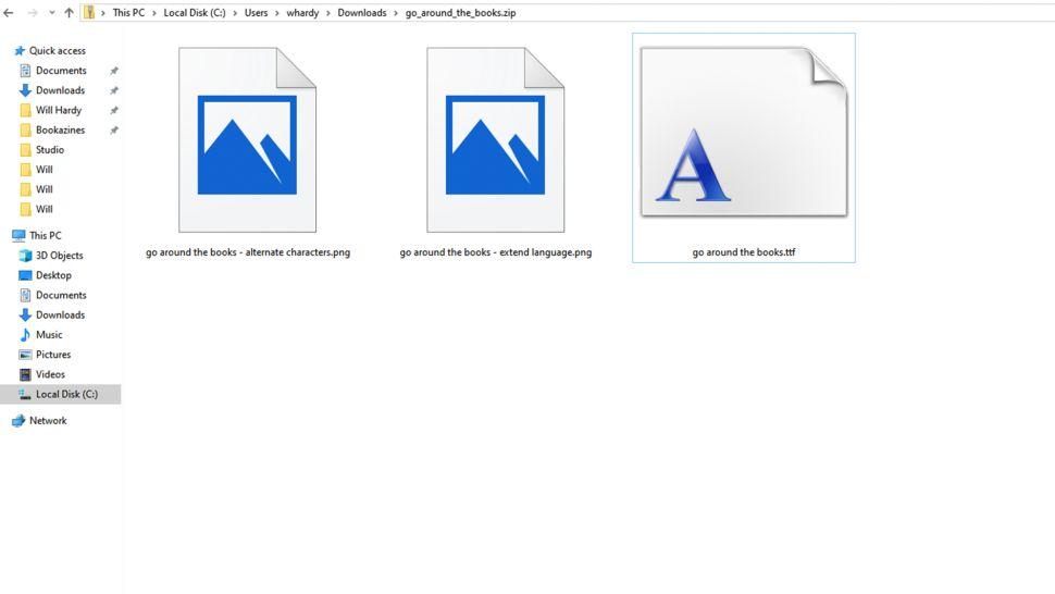 localizar arquivo de fonte no sistema windows designe