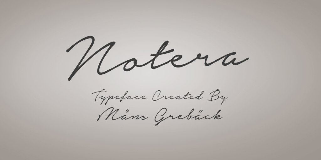 notera fontes aesthetic designe