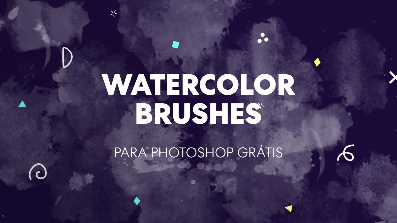 watercolor brushes gratis para photoshop designe
