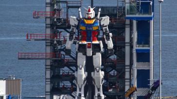 gundam yokohama robo gigante japao designe