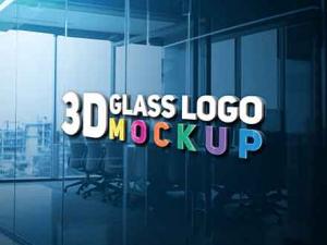 3D Glass Logo Mockup 300x225 ThGmA1