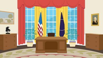 paleta de cores do salao oval de presidentes estadunidenses designe
