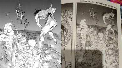 censura no manga da malasia attack on titan