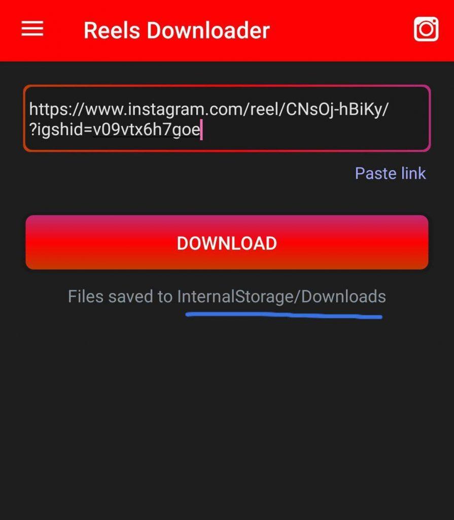 Reels Downloader Pasta