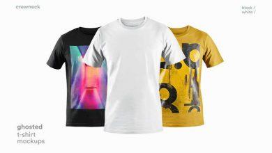 mockups de camiseta de alta qualidade