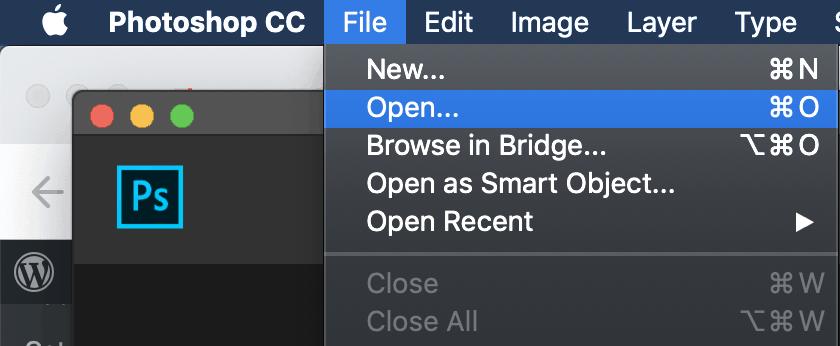 Abra a imagem que deseja colorir fotos usando o Photoshop