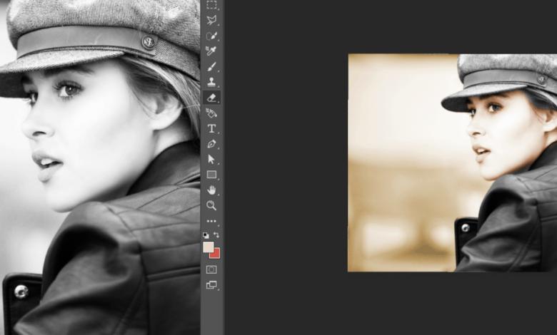 colorir foto em preto e branco
