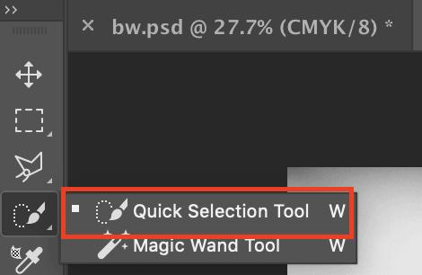 A ferramenta de seleção rápida do Photoshop