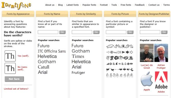 identifont identify fonts