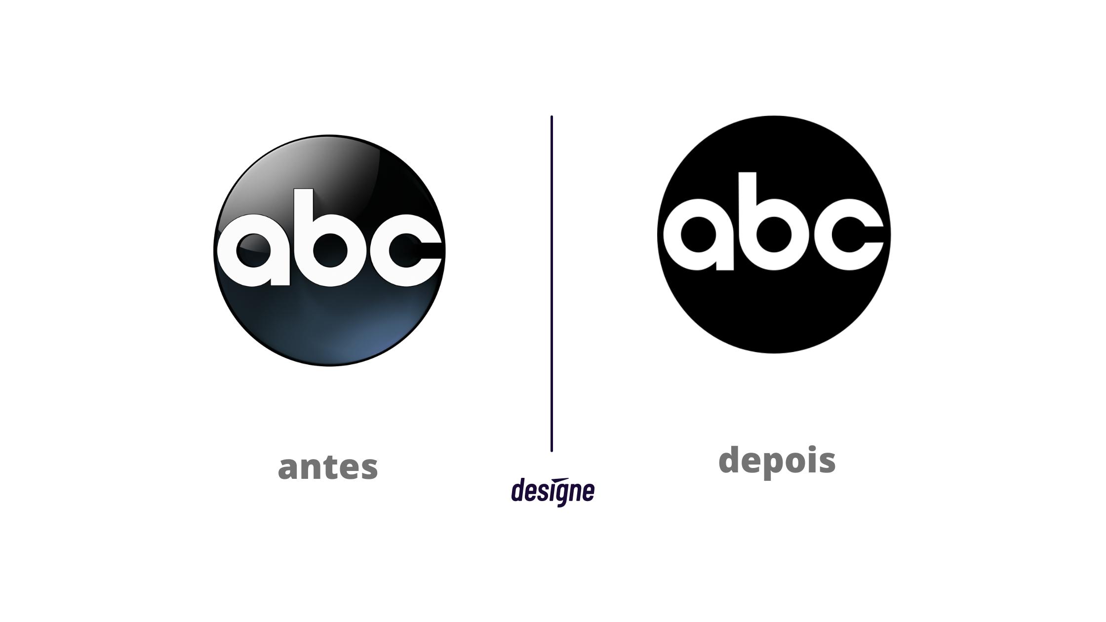 Novo Logo ABC antes e depois