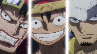 One Piece episodio 977 anime Luffy, Kid e Law