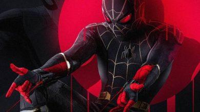 Homem aranha No way home traje preto e dourado