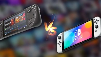 comparacao Steam Deck Nintendo Switch OLED