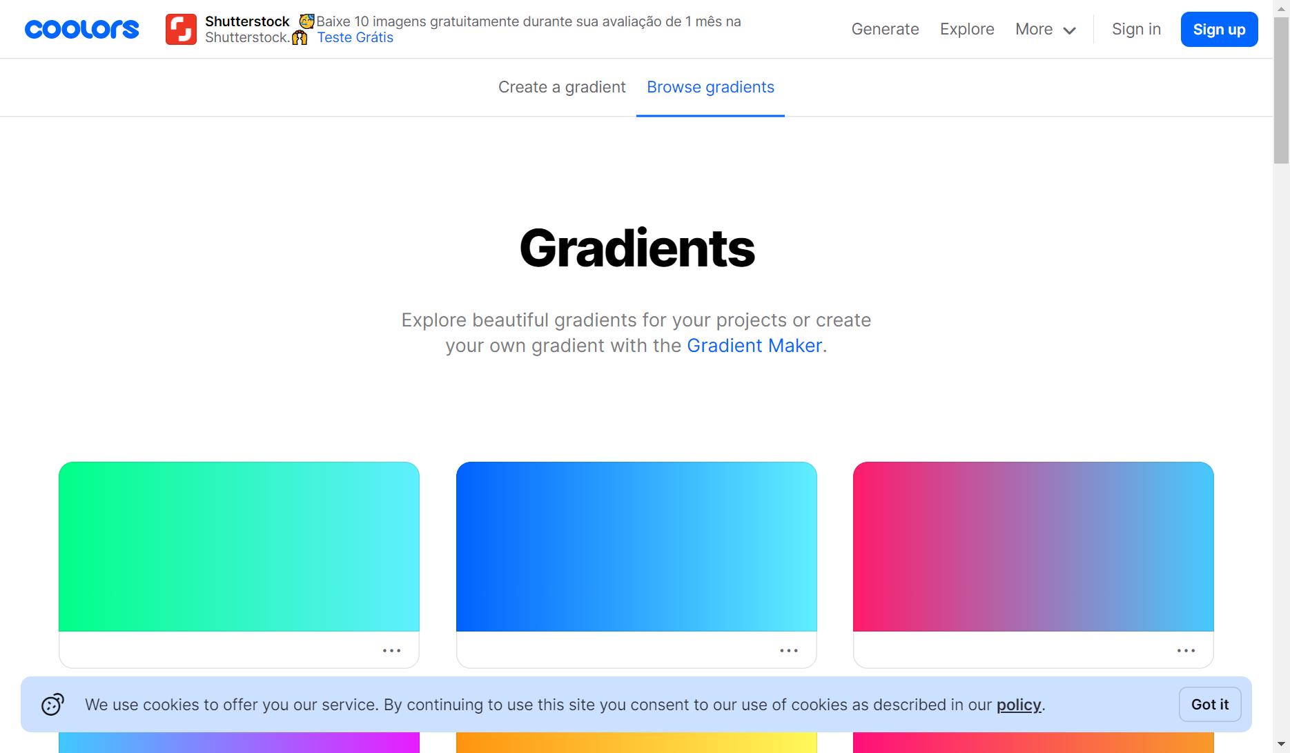 coolors gradientes