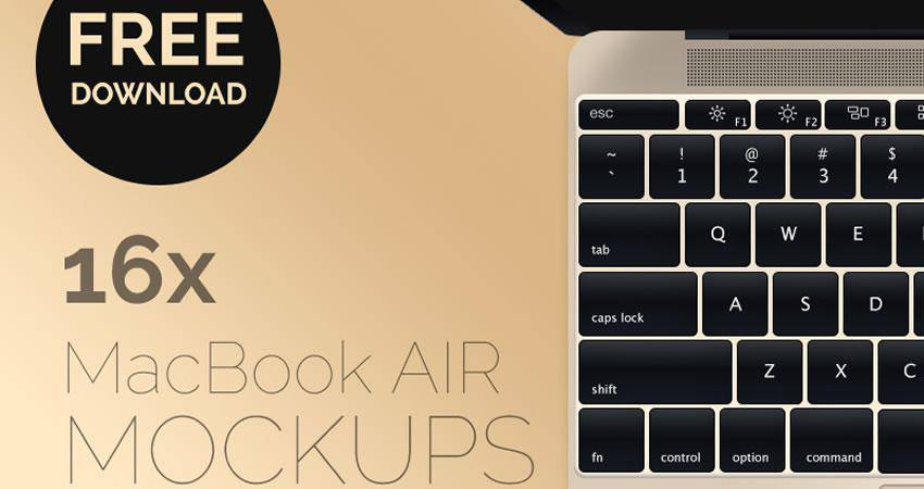 free macbook mockup template 16