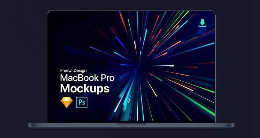 free macbook mockup template 23