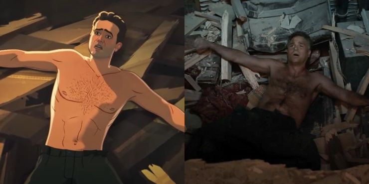 Bruce Banner em What If e Vingadores Guerra Infinita