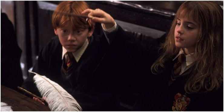 Hermione Ron Wingardium Leviosa Harry Potter