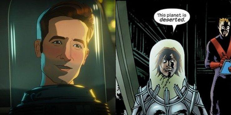 Homem Formiga Scott Lang em What If e Janet em Marvel Zombies